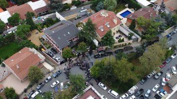 Gazeteci Cemal Kaşıkçı'nın kaybolduğu konsolosluk havadan görüntülendi