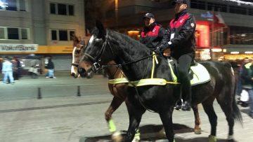 Atlı Birlikler Taksim Meydanı'nda