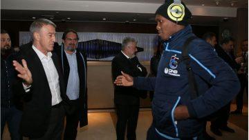 Trabzonspor Başkanı Ahmet Ağaoğlu'dan takıma ziyaret