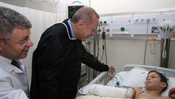 Cumhurbaşkanı Erdoğan, minik Havva'yı ziyaret etti