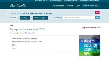 '2023 Eğitim Vizyon Belgesi' dünya gündemine taşındı
