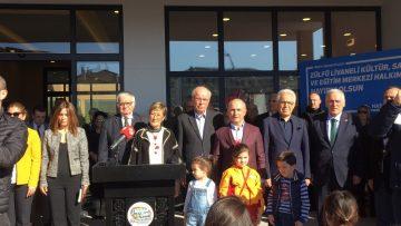 Zülfü Livaneli, adının verildiği sosyal tesisin açılışını yaptı
